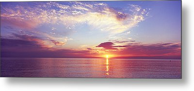 Sunset Over The Ocean, Gulf Of Mexico Metal Print by Panoramic Images