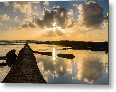 Sunset Over The Ocean I Metal Print by Marco Oliveira