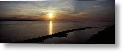Sunset Over The Sea, Ebeys Landing Metal Print by Panoramic Images