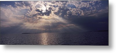 Sunset Over The Sea, Gulf Of Mexico Metal Print by Panoramic Images