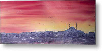 Sunset Over The Sea Of Marmar Metal Print