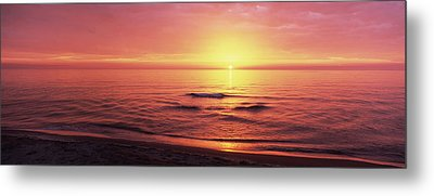 Sunset Over The Sea, Venice Beach Metal Print by Panoramic Images