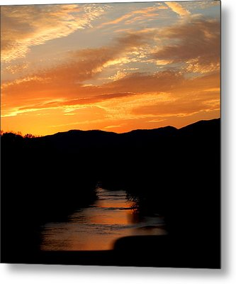 Metal Print featuring the photograph Sunset Over The Shenandoah by Candice Trimble