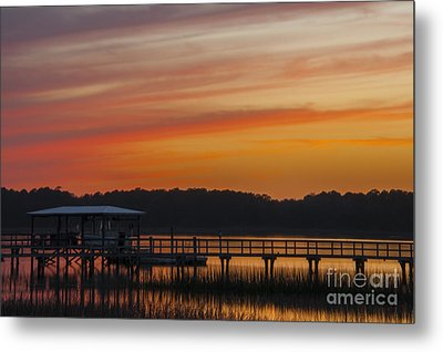 Metal Print featuring the photograph Sunset Over The Wando River by Dale Powell