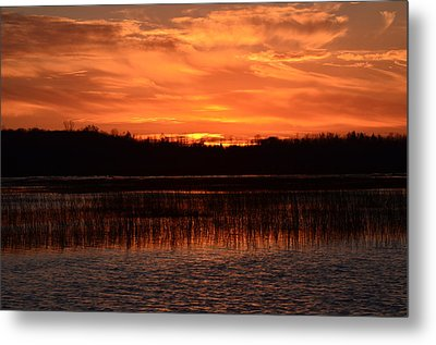 Metal Print featuring the photograph Sunset Over Tiny Marsh by David Porteus