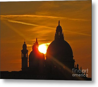 Sunset Over Venice Metal Print by Marguerita Tan