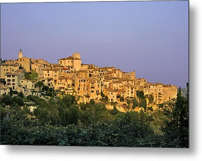 Sunset Over Vieux Nice - Old Town - France Metal Print by Christine Till
