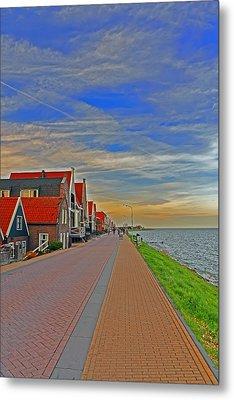 Sunset Over Volendam Metal Print