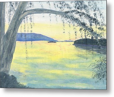 Sunset Over Water Metal Print by Stephanie Grant