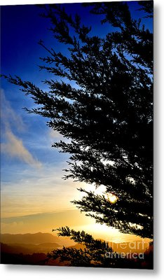 Sunset Overlooking Pacifica Ca Iv Metal Print by Jim Fitzpatrick