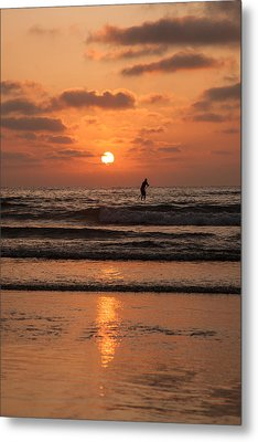 Metal Print featuring the photograph Sunset Paddle by Sonny Marcyan