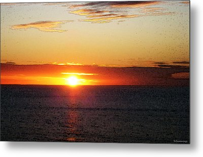 Sunset Painting - Orange Glow Metal Print