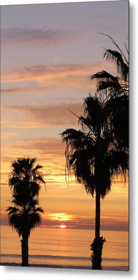 Sunset Palms Metal Print by Charles Ables