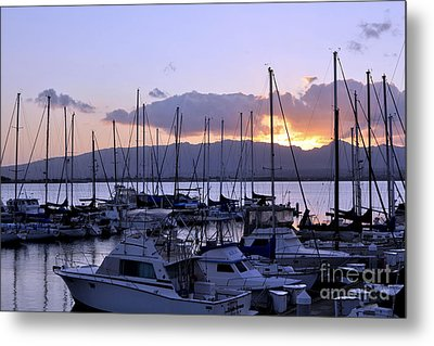 Metal Print featuring the photograph Sunset Pearl Harbor by Gina Savage