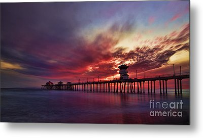 Sunset Metal Print by Peter Dang