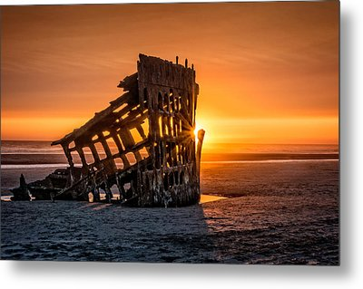 Sunset Peter Iredale Metal Print by James Hammond