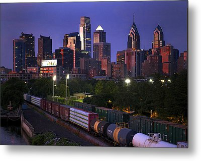 Philly Sunset  Metal Print by Kenny  Noddin