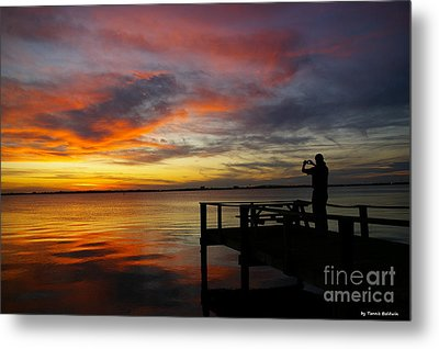 Metal Print featuring the photograph Sunset Photographer by Tannis  Baldwin