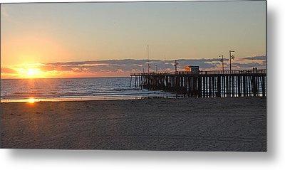 Sunset Pismo Beach Pier Metal Print