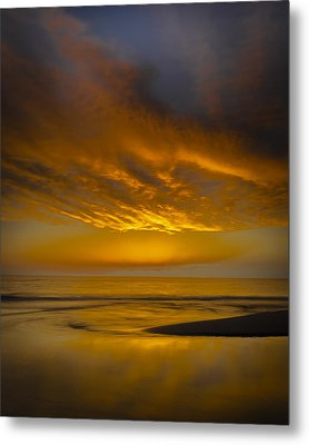 Sunset Power Metal Print