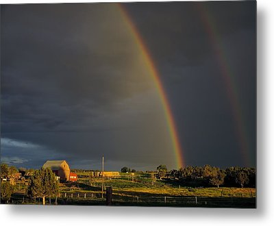 Sunset Rainbow Right Metal Print