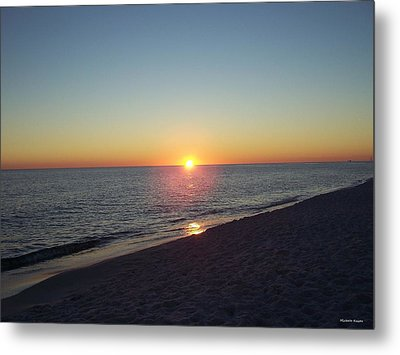 Sunset Reflection Metal Print by Michele Kaiser