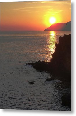Metal Print featuring the photograph Sunset Reflection by Natalie Ortiz