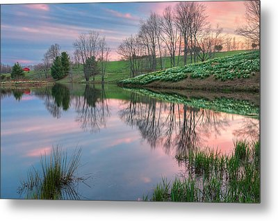 Sunset Reflections Metal Print by Bill Wakeley