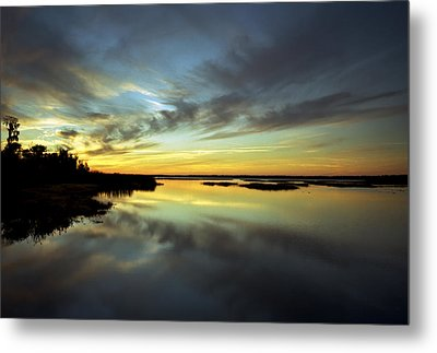 Sunset Reflections. Lake Gentry. Metal Print by Chris  Kusik