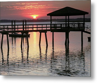 Sunset Reflections Metal Print by Phill Doherty