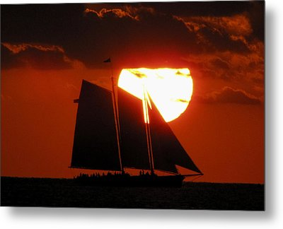 Key West Sunset Sail 5 Metal Print