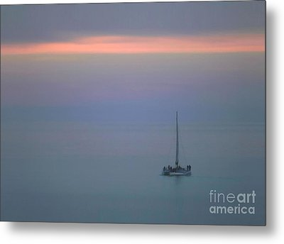 Metal Print featuring the photograph Sunset Sail by Clare VanderVeen