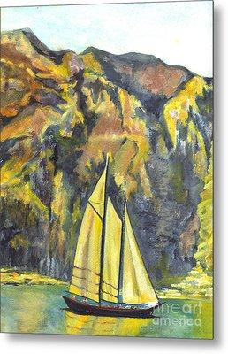 Sunset Sail On Lake Garda Italy Metal Print by Carol Wisniewski