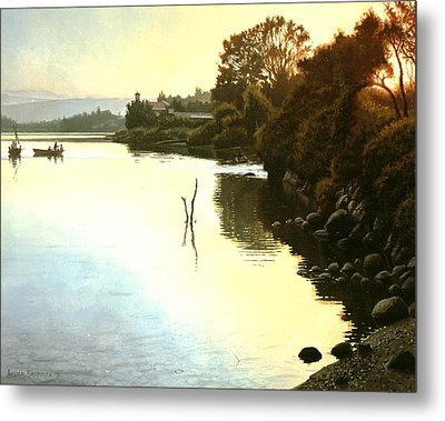 Sunset  Sea Of Galilee  Israel Metal Print by Graham Braddock
