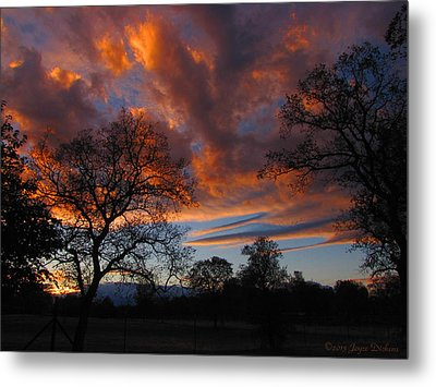 Sunset September 24 2013 Metal Print by Joyce Dickens