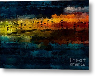Metal Print featuring the digital art Sunset Serenade by Lon Chaffin