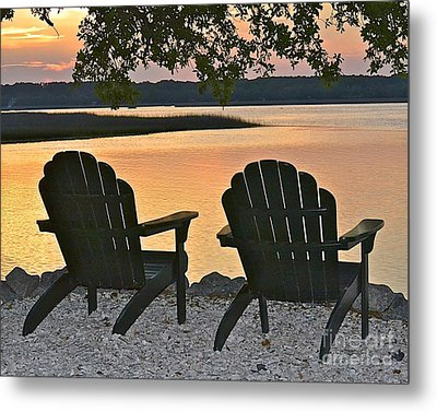 Metal Print featuring the photograph Sunset Serenity by Carol  Bradley