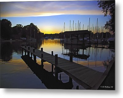Metal Print featuring the photograph Sunset Silhouette by Brian Wallace