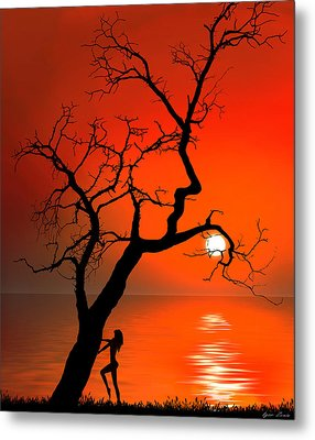 Sunset Silhouettes Metal Print by Igor Zenin