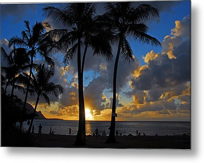 Metal Print featuring the photograph Sunset Silhouettes by Lynn Bauer