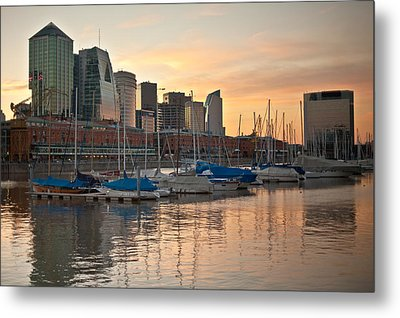 Metal Print featuring the photograph Buenos Aires Sunset by Silvia Bruno