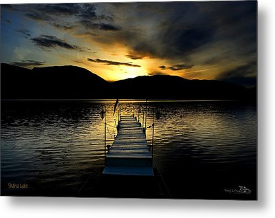 Sunset Skaha Lake Metal Print