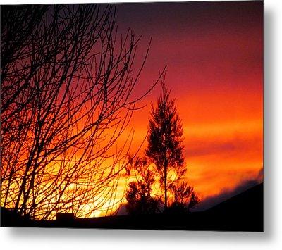 Sunset Sky . Metal Print by Joyce Woodhouse