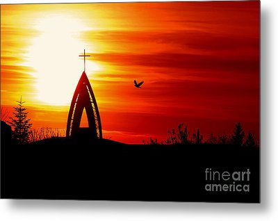 Sunset - Sky In The Fire Metal Print by Martin Dzurjanik
