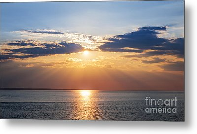 Sunset Sky Over Ocean Metal Print by Elena Elisseeva