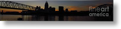 Sunset Skyline Cincinnati Metal Print