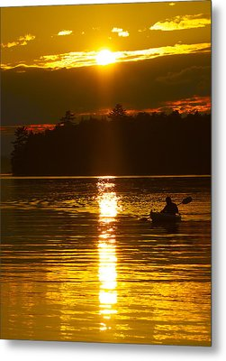 Metal Print featuring the photograph Sunset Solitude  by Alice Mainville