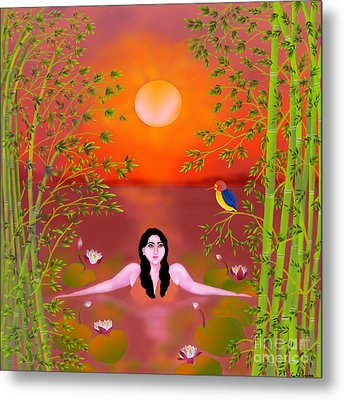 Sunset Songs Metal Print by Latha Gokuldas Panicker