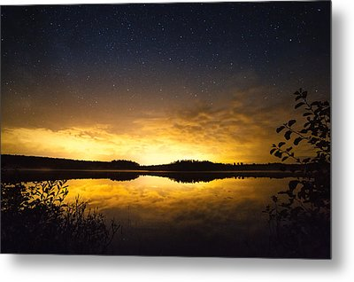 Sunset Star Landscape Metal Print