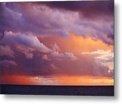 Metal Print featuring the photograph Sunset Storm by Al Fritz